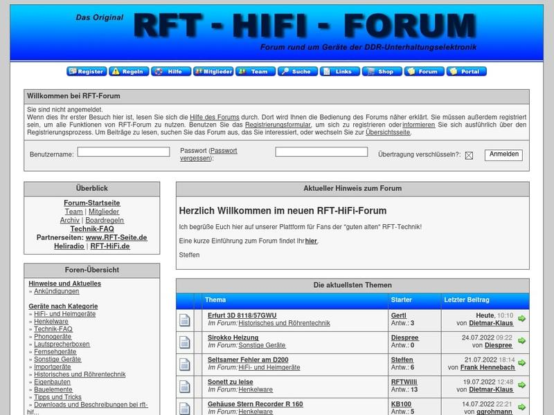 Screenshot von http://forum.rft-radio.de